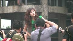 Chinese photographers, sexy model, female, woman, China Stock Footage