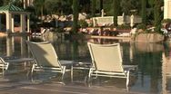 Stock Video Footage of Monte Carlo Bay Hotel pool