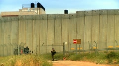 The Wall Israel-Palestaine 1 Stock Footage