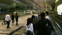 Passengers going to departure gate Stock Footage