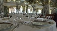 Hotel d' Paris Wine Dining Room Stock Footage