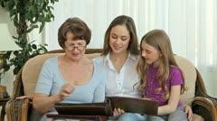 Family photo books Stock Footage