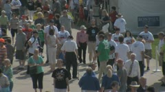 Stock Video Footage of Editorial Footage - Iowa Straw Poll 2011 - Crowd walking
