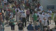 Editorial Footage - Iowa Straw Poll 2011 - Crowd walking Stock Footage