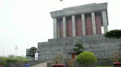 Ho Chi Minh mausoleum Hanoi Vietnam Stock Footage