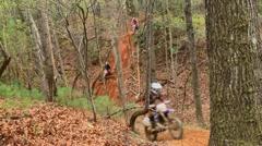 Motocross dirt bike racing 15 Stock Footage