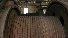 Historical mining dredge in Alaska HD Stock Footage