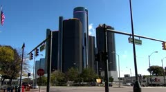 Detroit City Buildings Stock Footage