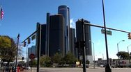 Stock Video Footage of Detroit City Buildings