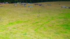 Start of Camping at Festival Stock Footage