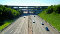 Free Flowing Traffic on London M25, UK - stock footage