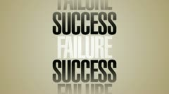 Success Failure Words Spin HD Stock Footage