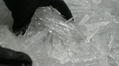 ice hands - stock footage