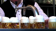 Pouring beer Stock Footage