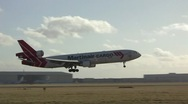 Martinair Cargo plane landing Stock Footage
