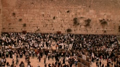 The Western Wall - Jewish Pray - stock footage