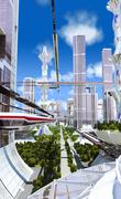 City of the Future - stock illustration