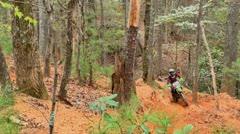 Motocross dirt bike racing montage 13 Stock Footage