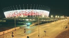Euro 2012 Warsaw Stadium Stock Footage