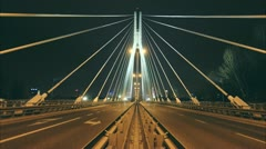 Bridge in Warsaw timelapse Stock Footage