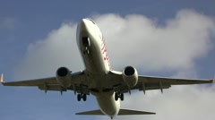 Airliner overhead shot - stock footage