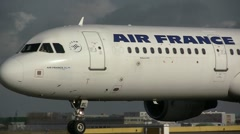 Air-france close up on taxiway Stock Footage