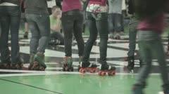 Teenagers rollerskating and dancing P HD 9507 Stock Footage
