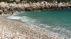 Empty pebble beach 2 Stock Footage