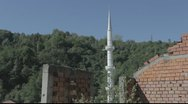 Stock Video Footage of Minaret of a mosque in Srebrenica