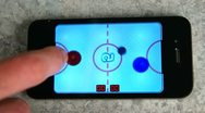 Playing Video Game On iPhone Cell Stock Footage