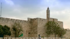Tower of David - Clear Sky 1 Stock Footage