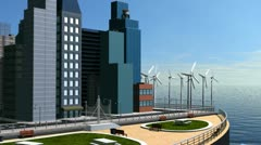 CG View of Eco System Cities  Stock Footage