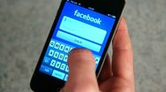 Facebook Log On iPhone 4 Stock Footage
