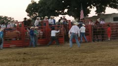 Stock Footage - Bucking Horse - Rider stays on until the buzzer - Rescued Stock Footage