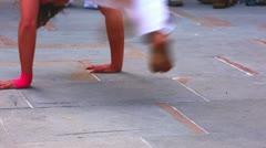 Capoeira dancers Stock Footage