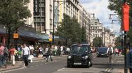 Stock Video Footage of Taxis in Oxford St London