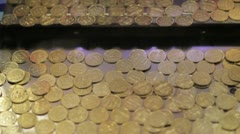 Stock Footage - Coin Push Game at Arcade Stock Footage