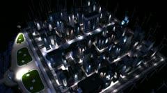 Conceptual CG of Selective City Lighting  - stock footage