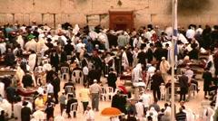 Western Wall Prayers Stock Footage