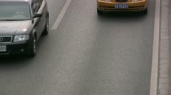 Busy traffic lane in Beijing, China Stock Footage