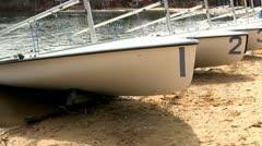420 racing sailboats Stock Footage