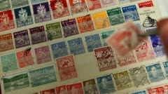 Stock Video Footage of Stamp Collection