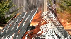 Burning debris Stock Footage