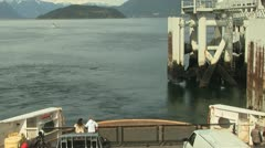 Ferry Boat Ocean Time Lapse: Vancouver Horseshoe Bay to Bowen Island Stock Footage