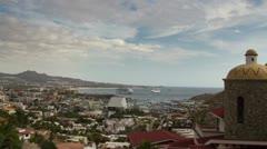 Los cabos pedregal view luxury villas mexico Stock Footage