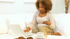 Senior Ethnic Female Online Shopping Stock Footage