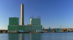 Cape cod electric power plant; left side 3 Stock Footage