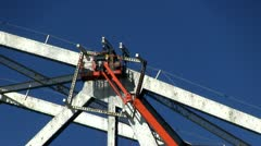 Cape cod canal bridge workers; 5 Stock Footage