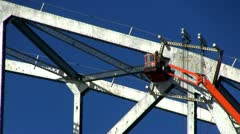 Cape cod canal bridge workers; 3 Stock Footage