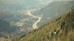 Highway from side of mountian Stock Footage